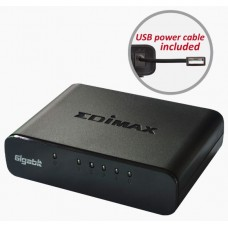 Edimax ES-5500G 5-Port Gigabit Ethernet Desktop Switch with USB cable